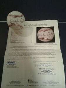 Hank Aaron Single Signed Baseball JSA Certified Rawlings MINT! Braves STUNNING