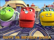 """PARTY PACK - CHUGGINGTON  PERSONALIZED 10 x 7.5"""" ICING CAKE TOPPER"""