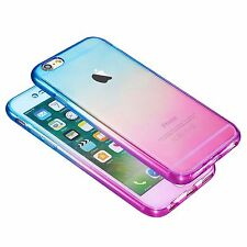 Shockproof 360 Silicone Protective Clear Case Cover For iPhone
