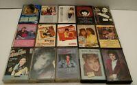Lot of 15 Female Country Music Cassette Tapes 1970-80's Reba, Patsy, Linda T67F