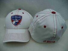 FC Dallas Adidas MLS White Structured Stitch FlexFit Hat Cap S/M