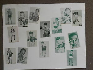 15 Boxing Exhibit Cards Willie Pastrano Joey Giardello Blank Back Lot VTG Old NR
