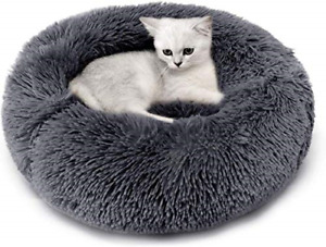 Legendog Cat Bed, Cat Bed for Indoor Cats Cat Bed Round Kitten Cushion Bed, Faux
