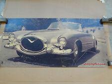 INSEGNA 1954 ORIGINALE PININFARINA PER CADILLAC PF 200 IN ALLUMINIO SIGN PROMO