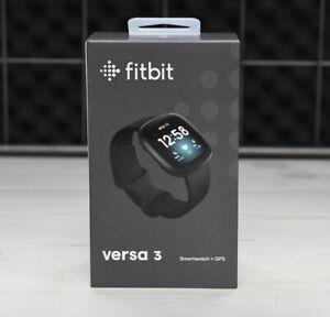 NEW SEALED BOX - Fitbit Versa 3 Smartwatch+GPS - Black Aluminum