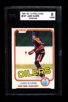 1981-82 O PEE CHEE OPC JARI KURRI KSA 8 NMMT Edmonton Oilers RC Rookie Card