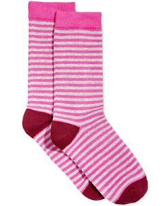 Hue Womens Casual Crew Socks Sangria Size 9-11