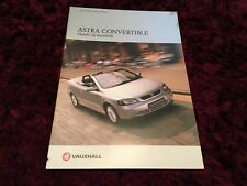 Vauxhall Astra Convertible UK Brochure 2002 Edition 1