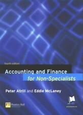Accounting and Finance for Non-specialists,Dr Peter Atrill, Eddie McLaney
