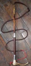 Antique Hallmarked 'London 1921' Hunt Whip-Antler Handle- 'M.A.Buller 1924'-