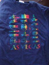 Ultra-Cool Embossed Rainbow Las Vegas Casino T-Shirt, Size Medium, Nice Shape!
