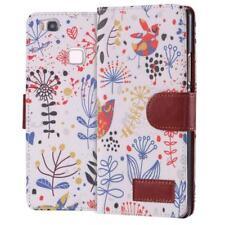 Huawei P9 Coque de Protection Carte Portefeuille Housse Etui Cover Case Oiseau