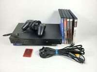 Sony PS2 Fat Console Bundle SCPH-30001 5 Games God of War FFX Controller OEM