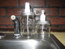 Ball Mason Jar Soap / Lotion /Dish Detergent Dispenser with Pump Set of 2 New