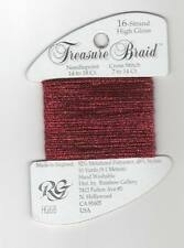 Rainbow Gallery Treasure Braid 16 High Gloss HG68 Red