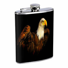 Eagle Flask D1 8 oz Stainless Steel Soaring Flying American Bird of Prey