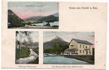 AK Fuschl See-Restauration Rettenbacher Mühlreith Wasserfall Ansicht 1908