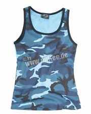 Tank Top Woman 3-color skyblue Woodland camo US Army talla L camisa sommertop