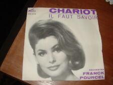 """FRANK POURCEL """" CHARIOT - IL FAUT SAVOIR """" ITALY'62"""