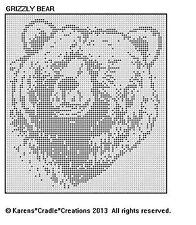 GRIZZLY BEAR Filet Crochet Pattern
