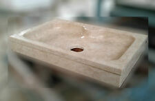 LAVELLO LAVANDINO LAVABO in marmo, pietra travertino cucina, NON INCOLLATO