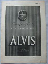 1942 Alvis Original advert No.2