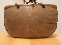 ANTIQUE PRIMITIVE FOLK ART WOOD CARVING BELL? HEART NATIVE AMERICAN OR ASIAN