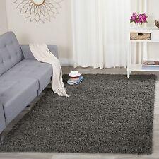 Safavieh Athens Dark Grey Shag Rug 4' x 6' Living Room Carpet Area Solid gray