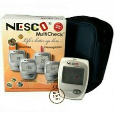 Nesco Multicheck Blood Glucose Uric Acid Cholesterol Test Kit Health Monitoring