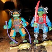 1993 TMNT Movie 3 III Samurai Leo & Mike Teenage Mutant Ninja Turtles Figures