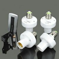 4x E27 Screw Wireless Remote Control Light Lamp Bulb Holder Cap Socket Switch !
