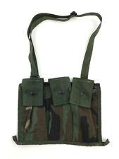 USGI Woodland Bandoleer, BDU Camo Military Army 6 Mag Ammo Bandoleer Pouch