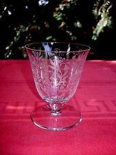 BACCARAT ARGENTINA WINE CRYSTAL GLASS VERRE A VIN CRISTAL GRAVÉ ART DECO 1930