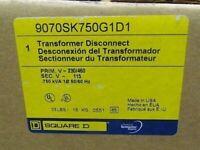 Square D 9070SK750G1D1 Transformer Disconnect .750 kva