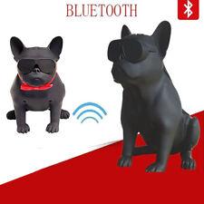CASSA SPEAKER BLUETOOTH 4.2 TWS BULLDOG FRANCESE CANE USB AUX SD STEREO WIRELESS