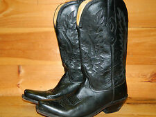 2000's Western Style Black Leather Boots By Old West Men's Size 8 (used)
