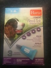 HARTZ InControl FLEA & TICK DROP FOR DOGS & PUPPIES 31-60 LBS 3 MOS FREE SHIP!