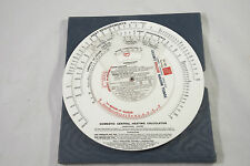VINTAGE MEAR ELECTRIC HEATING CALCULATOR SLIDE RULE TO CALC RUNNING COSTS/WEEK