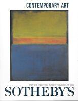 Sotheby's Sale 7550 Contemporary Art Auction Catalog November 2000