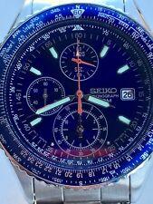 VINTAGE SEIKO 7T92 CHRONOGRAPH 100M BLUE DIAL/BEZEL QUARTZ MEN WATCH