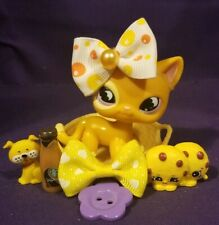 Authentic Littlest Pet Shop Lps #855 Standing orange yellow cat purple moon eyes