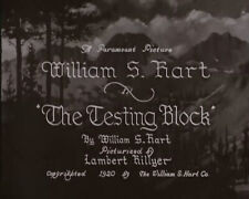 DVD The Testing Block (Lambert Hyllier, 1920) William S. Hart Eva Novak