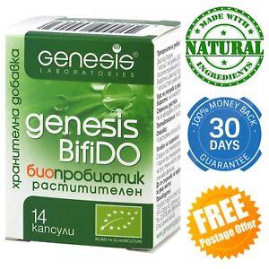 Genesis BifiDO Plant based organic probiotic caps Immune system Digestion Vegan
