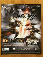 Warriors Orochi Xbox 360 PS3 PC 2007 Vintage Poster Ad Art Print Official Promo