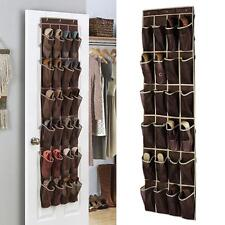 24 Pockets Over Door Hanging Bag Box Shoe Rack Hanger Storage Tidy Closet ONE
