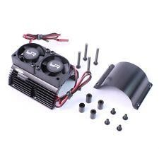 Yeah Racing Black 1/8 Aluminum Motor Heat Sink W/ Dual Cooling Fans YA-0261BK