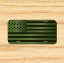 Usa Flag License Plate Vehicle Auto Tag Army Green Olive American Flag Free Ship