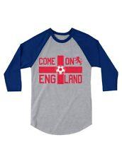 Come On England Soccer Fans UK Flag 3/4 Sleeve Baseball Jersey Toddler Shirt UK