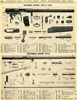 1966 Print Ad of Mossberg Model 142A 142K 151-K Rifle Parts List