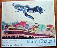 MARC CHAGALL-FONDATION MAEGHT- 1984-RÉTROSPECTIVE DE L'OEUVRE PEINT